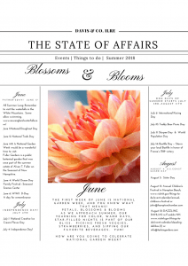 The State of Affairs- Blossoms & Blooms In June